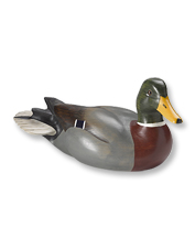 Decorate your den with these impressive hand-carved and painted duck decoys by Dux' Dekes.