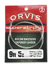 This tapered fly fishing leader offers unmatched elasticity, knot strength, and suppleness.