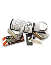 This knife making kit has everything you need to create your own scrimshaw knife.