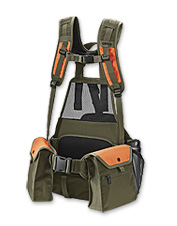 This bird hunting vest has ample storage space to accommodate your daily bag.