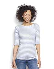 A feminine boatneck will make this perfect women's tee a favorite.