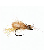 This caddis emerger fly pattern is easy-to-see and sits perfectly in the film.