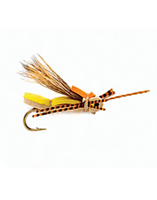 This rubber leg, foam body grasshopper fly will never sink and never let you down.