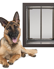 Allow your pet safe, easy access to your home with this energy efficient wall-mount dog door.