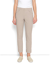 These adaptable women's stretch travel ankle pants go with you anywhere.