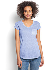 Our men's Favorite Sunwashed V-Neck is now available in this flattering tee for women.