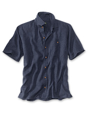 Our Hemp/Tencel Short-Sleeved Shirt delivers cool, lightweight comfort when the mercury rises.