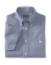 Our men's wrinkle-free plaid shirts keep you crisp and impeccably dressed in the summer heat.