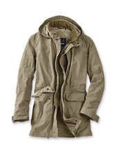 This handsome men's jacket by Barbour® boasts a long line and lightweight protection.