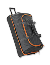 Ideal for your next angling adventure, this nylon rolling duffle bag can handle wet gear.