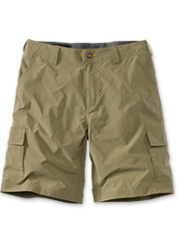 The water-resistant fabric in our men's quick-dry cargo shorts also protects you from UV rays.