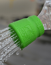 Clean pets or messy gear easily with a plastic bottle and the Muddy Dog Travel Shower nozzle.