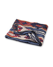 This throw blanket with traditional Adirondack styling is ideal for knocking off the chill.