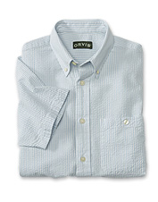 Summer's most sultry days insist on the cool comfort of this men's classic seersucker shirt.