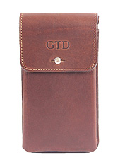 Vintage design pairs with high-tech functionality in this handsome iPhone® 6 leather holster.