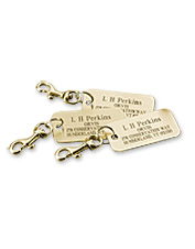 Our personalized brass luggage tags facilitate smoother airport travel.