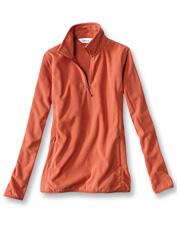 Our sleek Quarter-Zip Microgrid Fleece boasts superior softness and feminine design details.
