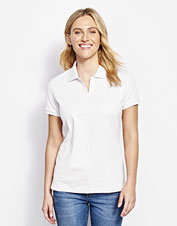 Our comfortable Mayfly Pima Polo boasts an easy, flattering fit and superior softness.