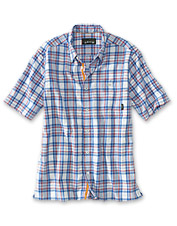 Technical fabric and lively plaid make these camp shirts for men so appealing for summer.