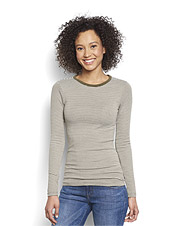 Perfect fabric, perfect fit, Perfect Striped Crewneck Tee.