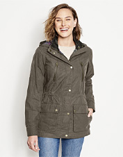 Meet any adventure in flattering style wearing our rugged River Road Waxed Cotton Jacket.
