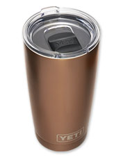 Take hot or cold beverages anywhere in these Rambler stainless steel travel cups by YETI.
