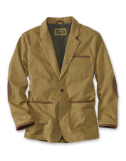 We've made the Orvis Zambezi twill jacket for men more resilient with a touch of spandex.