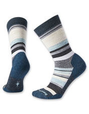 Your feet will enjoy cushioned comfort in these Smartwool merino wool-blend crew socks.