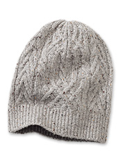 5f12b966ae41e You ll love the appealing cabled Donegal tweed in this women s classic wool  knit cap