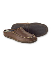 Slide into our leather Men's Lodge Slip-On Mocs for effortless comfort and warmth.