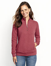 No ordinary sweatshirt, this quarter-zip boasts an eye-catching jacquard knit.