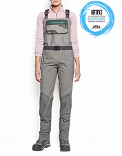 Our versatile Women's Ultralight Convertible Waders adjust easily for any wading conditions.