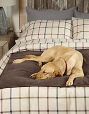 This handsome dog-proof furniture protector has the same appeal as your favorite fleece throw.