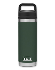 This tough, insulated Rambler 18 oz. Bottle from YETI keeps a beverage hot or cold anywhere.