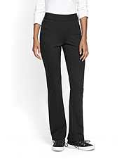Our classic ponte slim pants for women now come in a versatile bootcut silhouette.