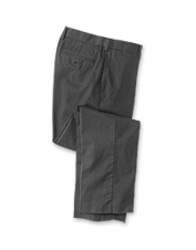 Enjoy all-day crispness wearing these handsome men's wrinkle-free charcoal chino pants.