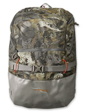 Keep your hunting essentials organized and dry with the water-repellent Sitka Timber backpack.