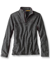 This quarter-zip pullover boasts the smart looks of a sweater and the easy care of fleece.