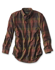 Luxury cotton and merino wool conspire to make this appealing plaid shirt a favorite.