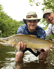 End your fly-fishing days in riverside comfort and luxury at the South Holston River Lodge.
