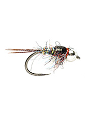 This mayfly pattern by Josh Miller sparkles with variegated color.