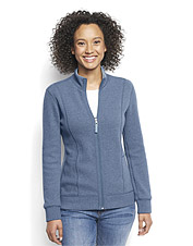 Our comfortable Signature Softest Reversible Zip-Front Jacket makes a smart casual layer.
