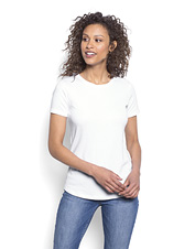 You'll love the soft hand and feminine silhouette of our Perfect short-sleeved tee for women.