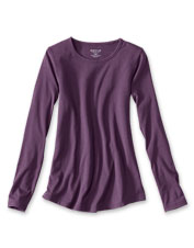 We improved our silky soft Long-Sleeved Perfect Tee with an appealing, relaxed fit.
