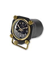 The pilot or aviation enthusiast you know will love this vintage-style altimeter novelty clock.