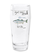 Maine artist Karen Talbot illustrates each beer glass in this collection with a fish species.