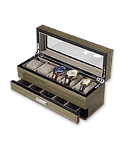 He'll enjoy keeping his watch collection and more safe and protected in this smart storage box.