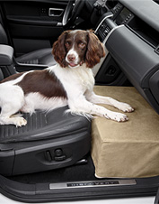 The dog who rides shotgun will enjoy the supported comfort of this front car seat extender.