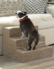 Give your dog a leg up onto your bed or other furniture with these lightweight foam dog steps.