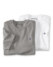 Our substantial men's fly crewneck T-shirt nods to the past with its high-quality construction.